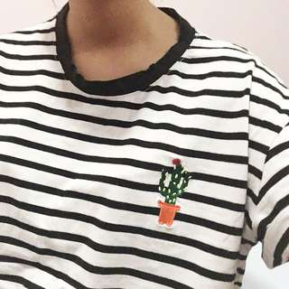 striped cactus shirt