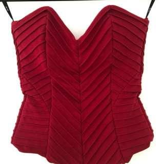 Red Bardot corset size - 12