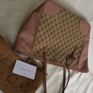 preloved tote bag gucci bree authentic