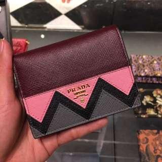 Prada 銀包 短銀包 卡片套 wallet