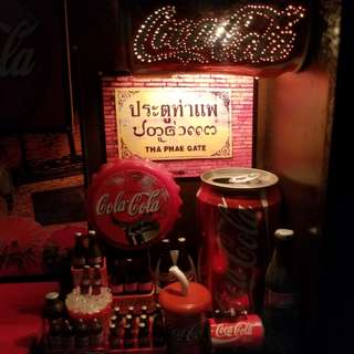 Coca-Cola可口可樂時鐘燈箱擺設