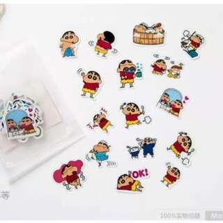 40 pcs shin Chan stickers