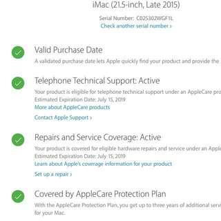超新 iMac - 21.5 inch, late 2015 with Apple Care