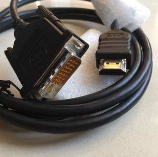 HDMI to DVI cable 2 metre