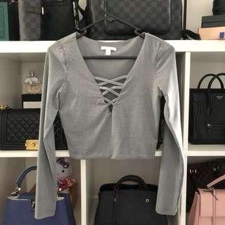 Kookai Marle Grey Crop