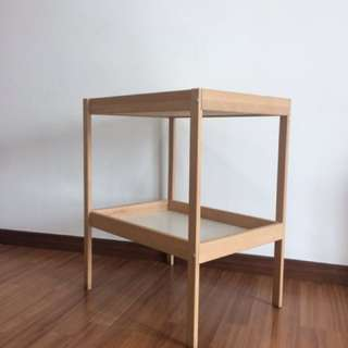 IKEA, Changing table, beech, white, 72x53 cm