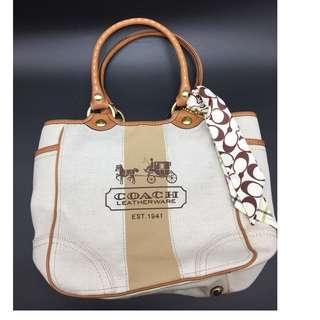 COACH Bleecker Canvas Tote Bag F11791 - Coach 手袋