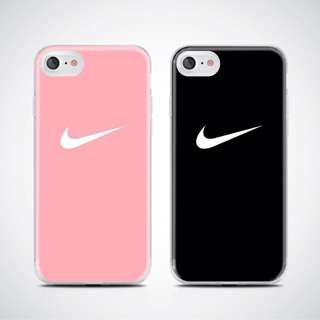 Nike Pink and Black case for iPhone