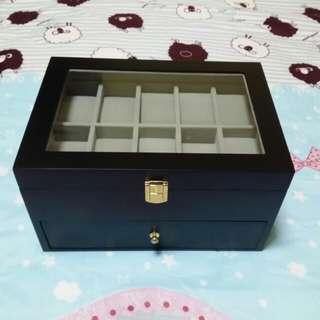 20-slot Wooden Watch Storage Box