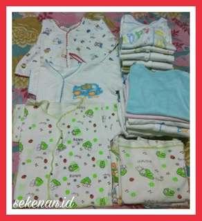 Pakaian bayi 0-3bulan kondisi lumayan buat harian