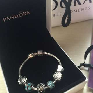 Never Been Used Pandora Bracelet With Multiple Charms