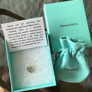 Tiffany & Co Double Heart Pendant Necklace