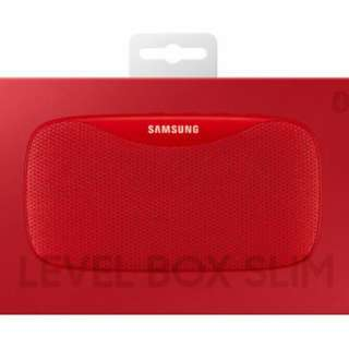 全新 samsung  紅色Level Box Slim 藍牙喇叭