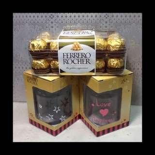 意大利金莎巧克力30粒分享禮盒+金莎玻璃隨手瓶2個