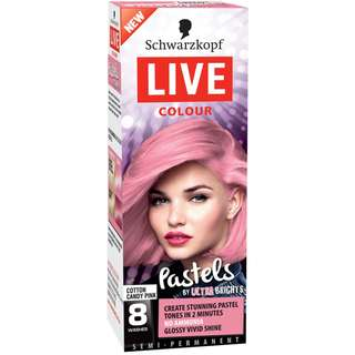 2 x Schwarzkopf Live Colour Pastels Cotton Candy Pink