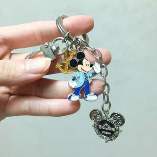 Authentic Disneyland Keychain Mickey Nautical