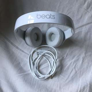 Beats Solo 2 Wired On-Ear Headphone (White)