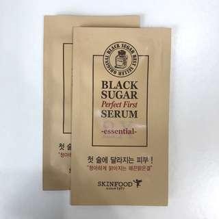 [Samples] Skinfood Black Sugar Perfect First Serum 2x Essential (x2)