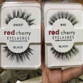 Red Cherry Visofree False Eyelashes 100% Human Hair