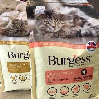 Burgess cat dry food 1.5kg/1.4kg