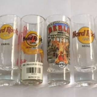 Hard Rock Cafe shot glasses from Europe and Asia