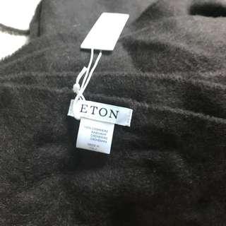 英國Eton 100% cashmere scarf 頸巾