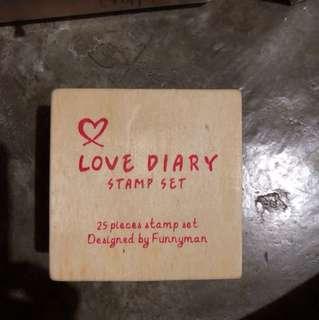 Love Diary Stamp Set