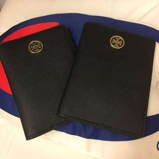 包郵!Tory burch passport case (black) 情人節禮物