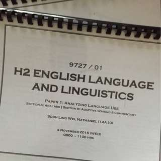 H2 English Language & Linguistics (ELL) Notes JC1 and JC2