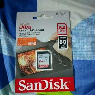 64gb sandisk ultra sdxc Card