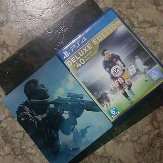 Call of duty ghost and Fifa 16