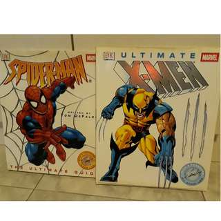 Marvel Uitimate Guides - Ultimate X-men, Spiderman - The Ultimate Guide