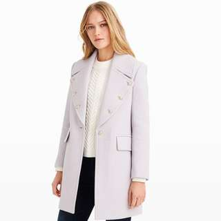BNWT Club Monaco coat in lavender