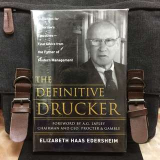 《Bran-New + Hardcover Edition + Final Advice From Drucker For Driving Growth and Profitability in New World》Elizabeth Haas Edersheim - THE DEFINITIVE DRUCKER: Challenges For Tomorrow's Executives -- Final Advice From the Father of Modern Management