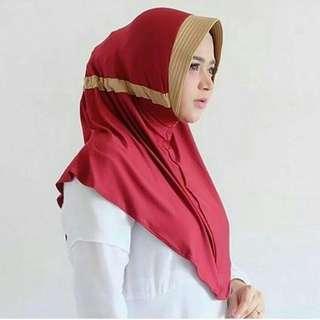 Jilbab Serut jokowi dua warna