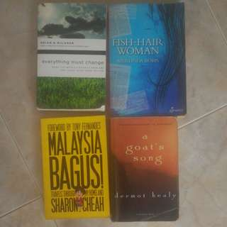 4 assorted books