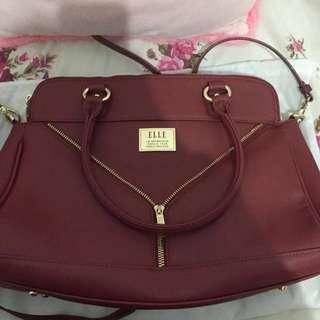 ELLE Maroon Bag