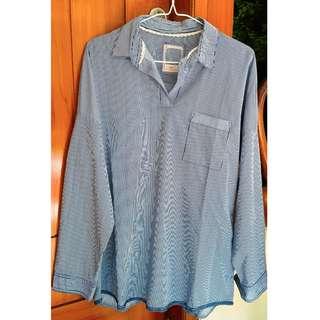 Stripe Pocket Shirt / Kemeja / Atasan