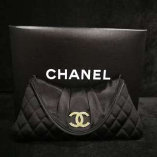 Chanel Satin Clutch