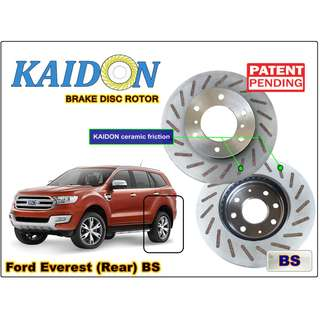 "Ford Everest brake disc rotor KAIDON (REAR) type ""RS"" / ""BS"" spec"