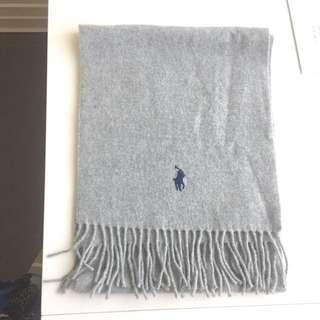 Polo 灰色100%羊毛頸巾