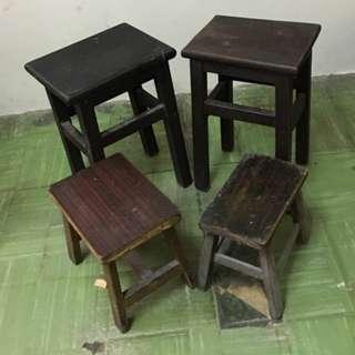 古董木凳四張
