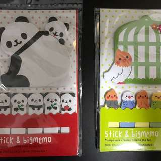 Cute Memo pads with small tabs