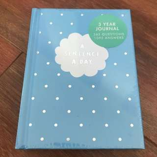 kikki.K New Unopened Journal - A sentence a day (3 Year Journal)