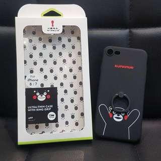 Iphone 7 7Plus 8 8Plus Kumamon ultra-thin 黑色 黑色保護殼