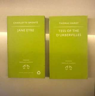Classics: Jane Eyre and Tess of the D'urbervilles