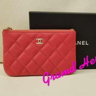 全新Chanel 粉紅色 (散紙包可放卡 Full Set)