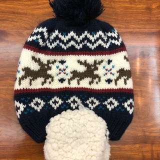 Winter pompom hat for 3 to 5 years old (unisex)