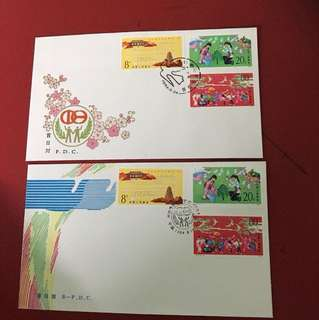 China stamp 1984 J104 2 FDC