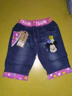 Celana tsum-tsum jeans pinggang karet